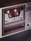 Vintage stereo cassette tape deck player recorder Royalty Free Stock Photos