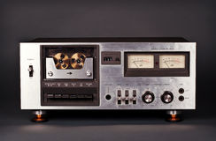 Vintage stereo cassette tape deck player recorder Stock Images