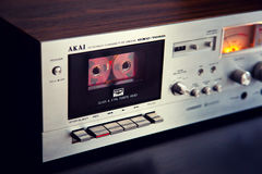 Vintage stereo cassette tape deck player recorder Royalty Free Stock Photography