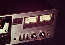 Vintage stereo cassette tape deck player recorder Stock Photos