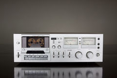 Vintage Stereo Cassette Tape Deck Recorder Stock Images