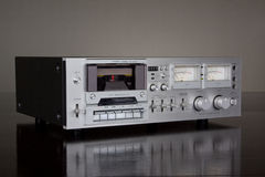 Vintage Stereo Cassette Tape Deck Recorder Stock Photo