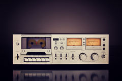 Vintage Stereo Cassette Tape Deck Recorder Royalty Free Stock Photography