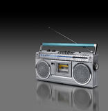 Vintage stereo radio cassette player Royalty Free Stock Photo