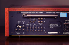 Vintage Stereo Radio Receiver Back Stock Photos