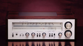 Vintage Stereo Radio Receiver Stock Image