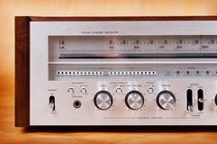 Vintage Stereo Radio Receiver Stock Photography