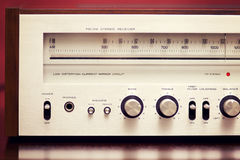 Vintage Stereo Radio Receiver Royalty Free Stock Images