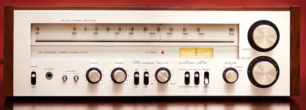 Vintage Stereo Radio Receiver Royalty Free Stock Image