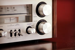 Vintage Stereo Radio Receiver Royalty Free Stock Photo