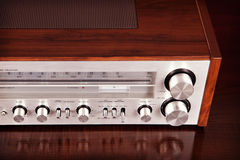 Vintage Stereo Radio Receiver Stock Images