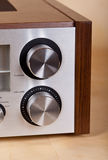 Vintage Stereo Radio Receiver Knobs Stock Photography