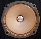 Vintage stereo speaker on a white background Royalty Free Stock Images