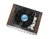 Vintage Stereo Turntable Isolated Stock Photo
