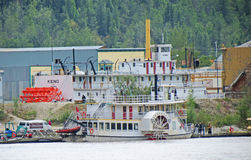 Vintage Sternwheeler. The SS Keno is a preserved historic sternwheel paddle steamer dry docked in Dawson City, Yukon, Alaska royalty free stock images