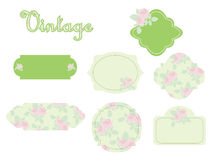 Vintage stickers Stock Images
