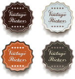 Vintage stickers Royalty Free Stock Photography