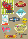 Vintage stickers Royalty Free Stock Photos