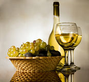Vintage still life. With grapes and wine Royalty Free Stock Images