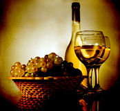 Vintage still life. With grapes and wine Stock Photography