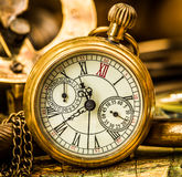 Antique pocket watch. Vintage still life. Antique pocket watch Royalty Free Stock Image