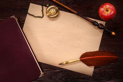 Vintage still-life with copy space Stock Photography