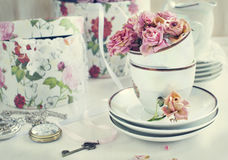 Vintage still life with dry roses Royalty Free Stock Photo