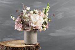 Vintage Still Life With Flowers Royalty Free Stock Photography