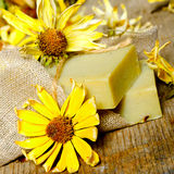 Vintage still life with handmade soap Royalty Free Stock Images
