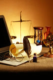 Vintage Still Life With Laptop Stock Images