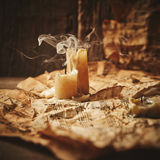 Vintage still life with music sheets Royalty Free Stock Images