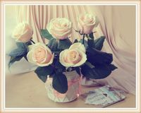 Vintage still life with roses Royalty Free Stock Images