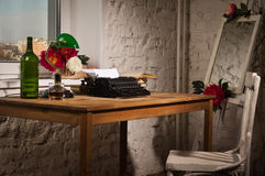 Vintage still life with typewriter Stock Images
