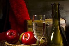Vintage still life with wine Stock Photo