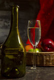 Vintage still life with wine Stock Image