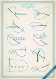 Vintage stitch type vector Stock Photos
