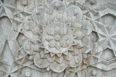 Vintage stone flower Stock Images