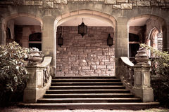 Vintage Stone Portico Royalty Free Stock Photo