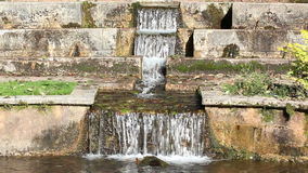Vintage Stone Stacked Garden Waterfall stock video