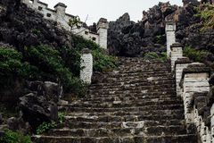 Vintage Stone stairs in temple asia Stock Image