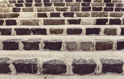 Vintage stone steps Royalty Free Stock Images