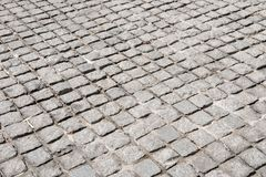Vintage stone street road pavement texture, outdoor Stock Photography