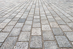 Vintage stone street road pavement texture Stock Photo