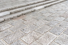 Vintage stone street road pavement texture Royalty Free Stock Photos