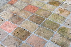 Vintage stone street road pavement texture, outdoor. Stock Images