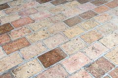Vintage stone street road pavement texture, outdoor. Royalty Free Stock Photo