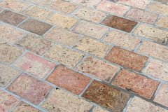 Vintage stone street road pavement texture, outdoor. Stock Photography