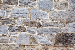 Vintage Stone Wall Background. Old fashioned vintage stone wall background with mortar Stock Image