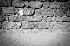 Vintage stone wall and floor Stock Image