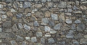 Vintage stone wall texture fence architecture Royalty Free Stock Image